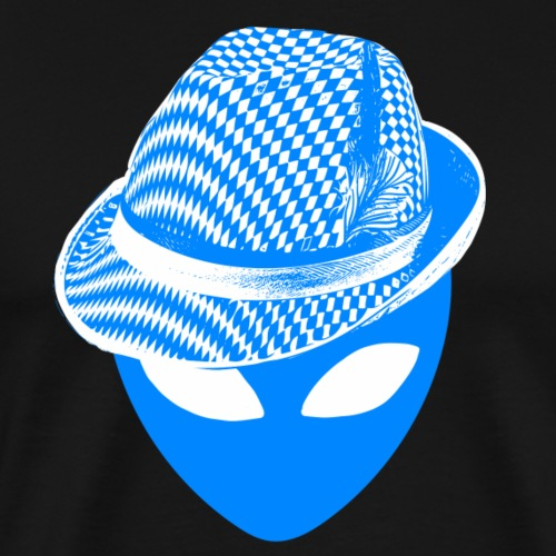 Bayern Alien Oktoberfest Lustige Coole Party - Männer Premium T-Shirt