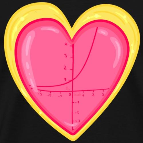 e Funktion Herz - Männer Premium T-Shirt