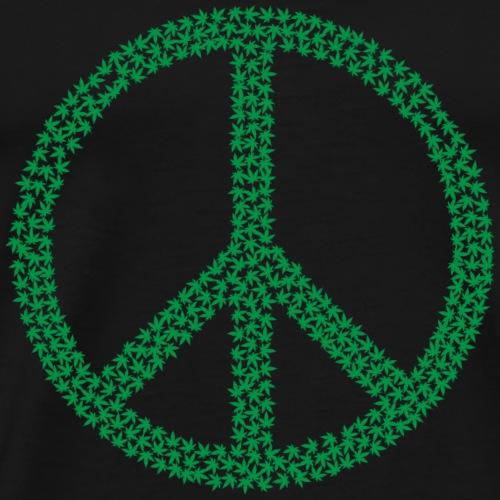Marijuana Peace Symbol - Männer Premium T-Shirt