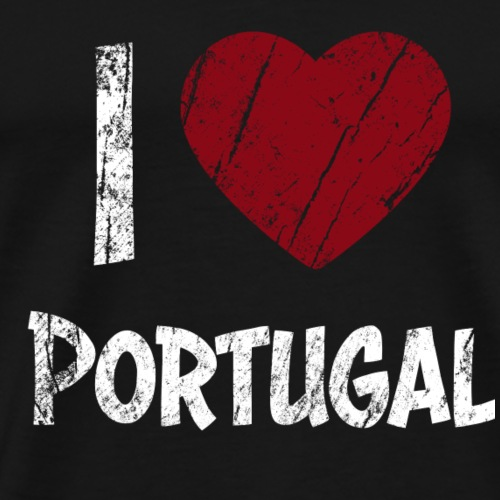 I Love Portugal - Premium T-skjorte for menn
