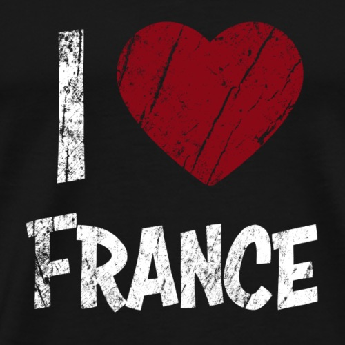 I Love France - Premium T-skjorte for menn