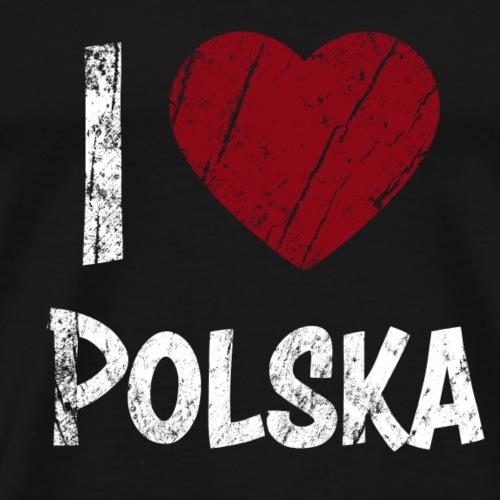 I Love Polska - Men's Premium T-Shirt