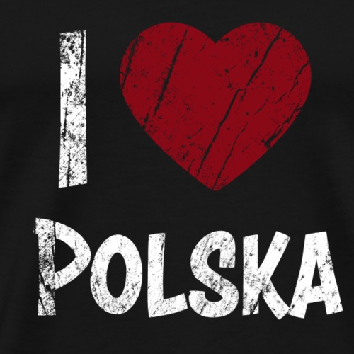 I Love Polska - Premium T-skjorte for menn