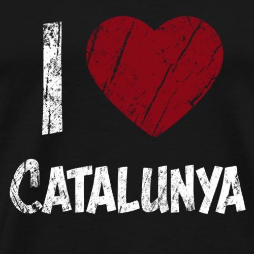 I Love Catalunya Catalonia Best T Shirt Heart Haer - Men's Premium T-Shirt