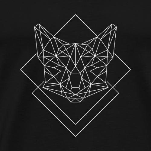 Polygon Fuchs weiss - Männer Premium T-Shirt