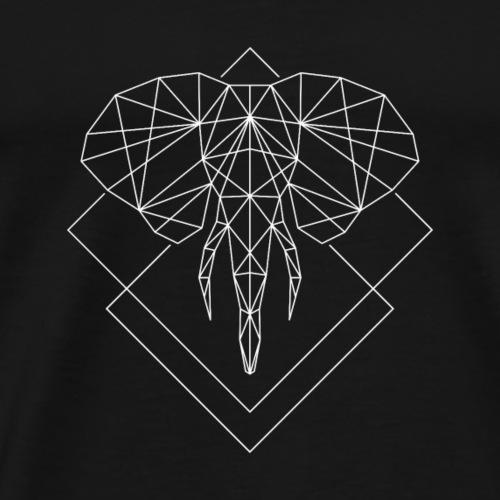 Polygon Elefant weiss - Männer Premium T-Shirt