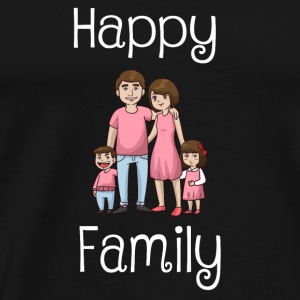 Familien Shirt Happy Family - Männer Premium T-Shirt