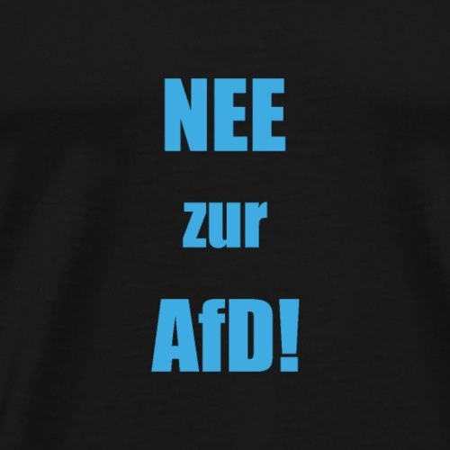 NEE zur AFD simpel blau - Männer Premium T-Shirt
