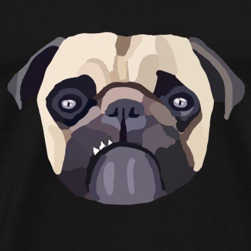 Mops Design - Männer Premium T-Shirt