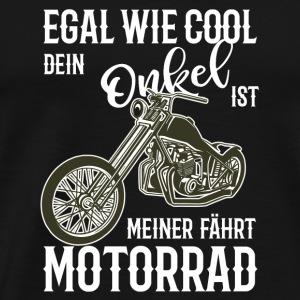 Motorrad Chopper cool Onkel Geschenkidee NEU - Männer Premium T-Shirt