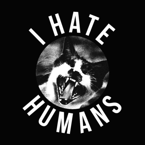 Chat Tee-shirt - I hate humans - Chat Tshirt - T-shirt Premium Homme