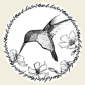 Kolibri Blüten Kreis - Männer Premium T-Shirt