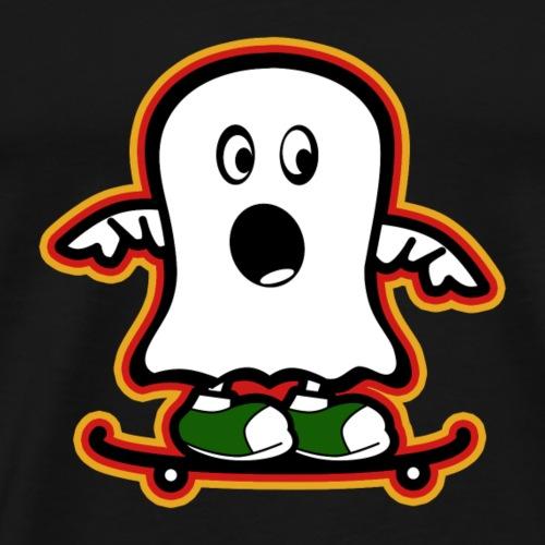 Funny Ghost, lustiger Geist Skateboard 2 - Männer Premium T-Shirt