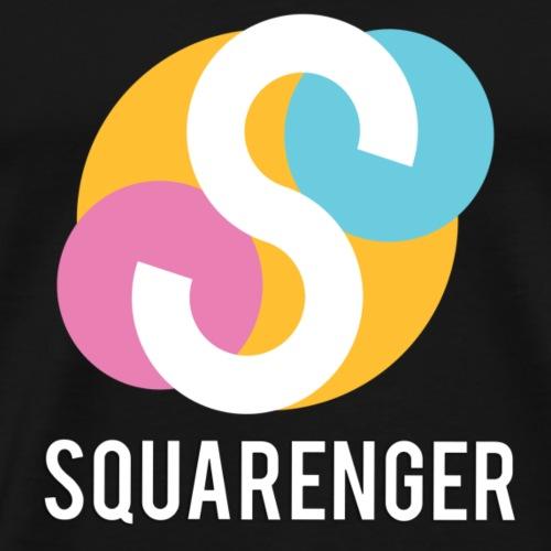 Squarenger Logo Schrift - Männer Premium T-Shirt