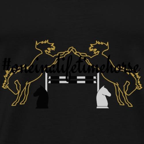 #oneinalifetimehorse | schwarz - Männer Premium T-Shirt