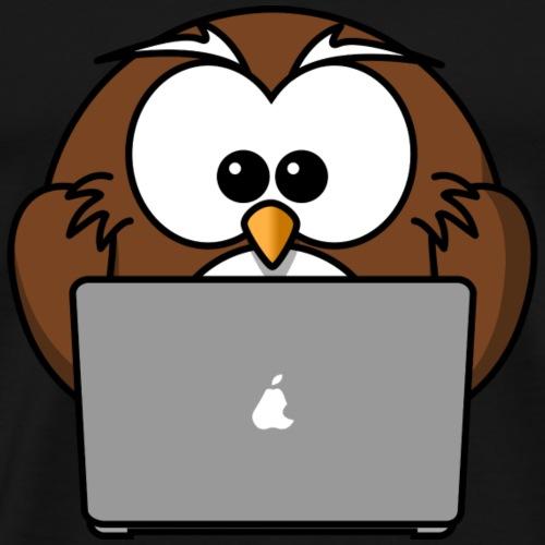 SocialMedia_Owl - Männer Premium T-Shirt