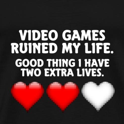 Video Spiele Spruch - Männer Premium T-Shirt