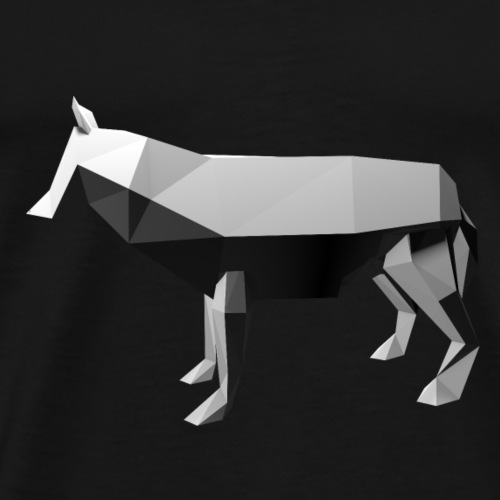 Low Poly 3D - Wolf - Mannen Premium T-shirt