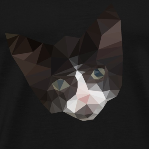 Kat - Low Poly 2D - Mannen Premium T-shirt