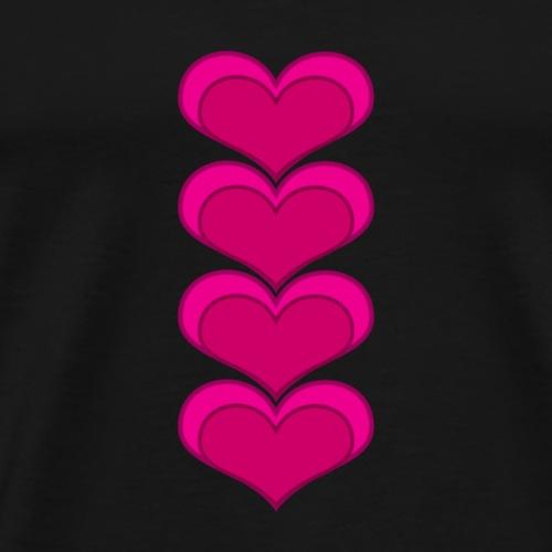 hearts - Mannen Premium T-shirt