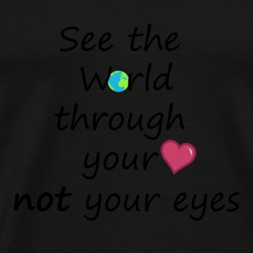 see through hearth - Mannen Premium T-shirt