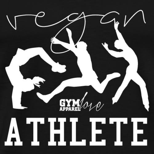 Vegan Athlete (White) - Männer Premium T-Shirt