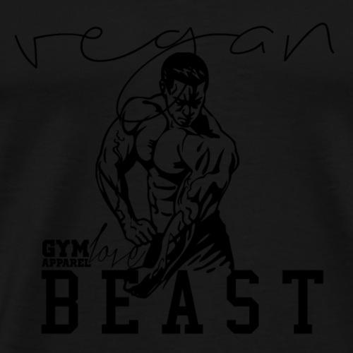 Vegan Beast (Black) - Männer Premium T-Shirt