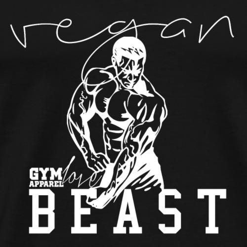 Vegan Beast (White) - Männer Premium T-Shirt
