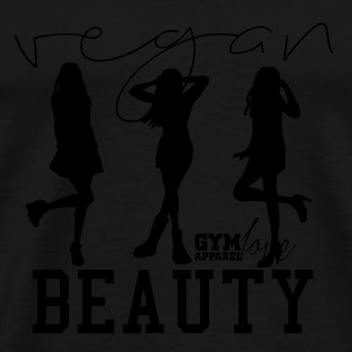 Vegan Beauty (Black) - Männer Premium T-Shirt