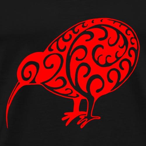Neuseeland: Kiwi in rot - Männer Premium T-Shirt