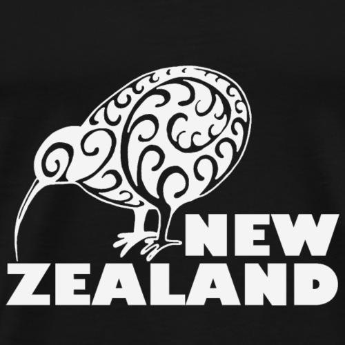 Neuseeland: Kiwi mit Schriftzug in weiß - Männer Premium T-Shirt