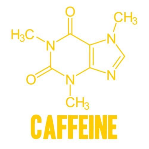 Molécula Cafeína - Camiseta premium hombre