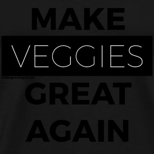 MAKE VEGGIES GREAT AGAIN black - Männer Premium T-Shirt