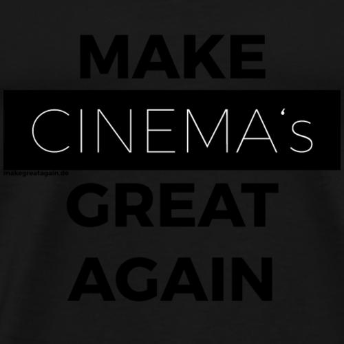 MAKE CINEMAS GREAT AGAIN black - Männer Premium T-Shirt