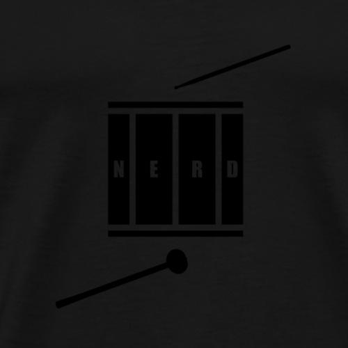 Nerd_Logo Black - Herre premium T-shirt
