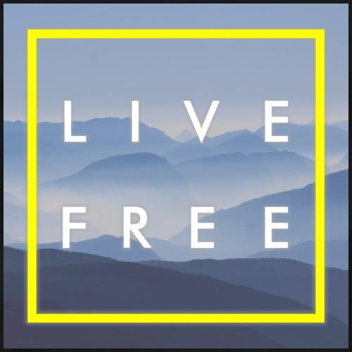 Live Free Blue - Männer Premium T-Shirt