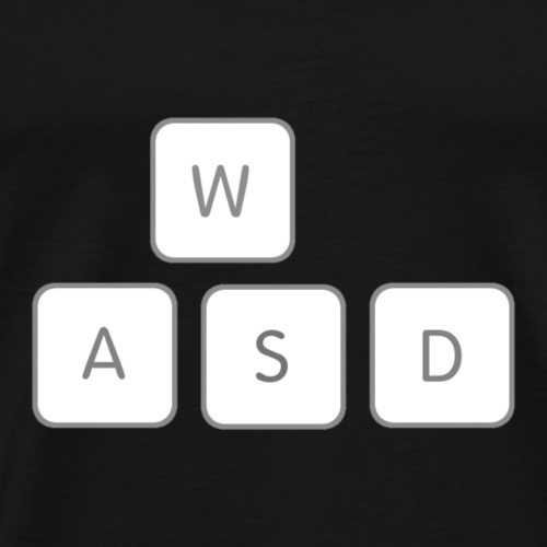 WASD Gamer Gaming Keyboard Meme - Men's Premium T-Shirt