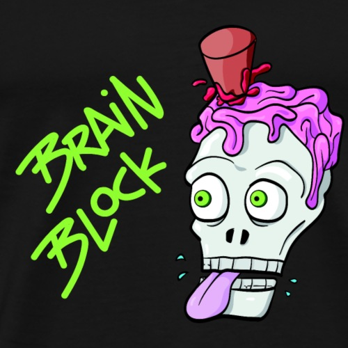 Brain Block - Männer Premium T-Shirt