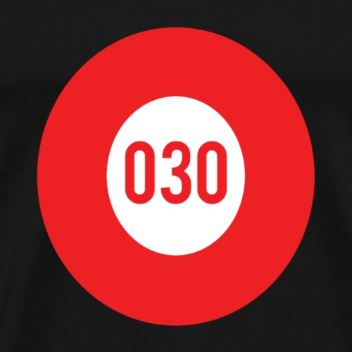 030 logo - Mannen Premium T-shirt