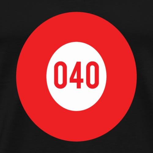 040 logo - Mannen Premium T-shirt