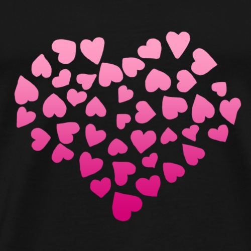 Coeur dégradé - T-shirt Premium Homme