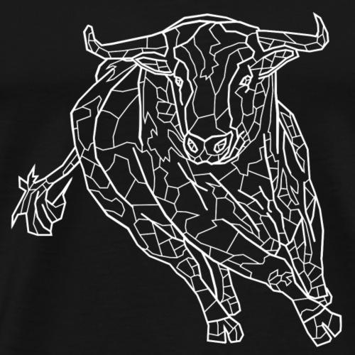 Stier weiß - Männer Premium T-Shirt