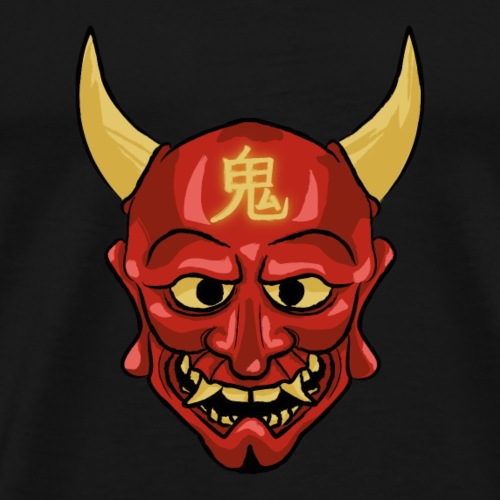 Oni Monster Rot - Männer Premium T-Shirt
