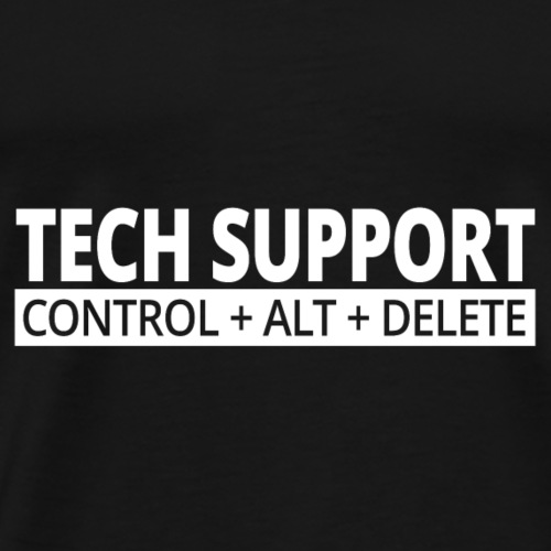 02 tech support - Männer Premium T-Shirt