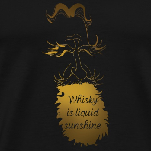 Whisky is liquid sunshine - Men's Premium T-Shirt