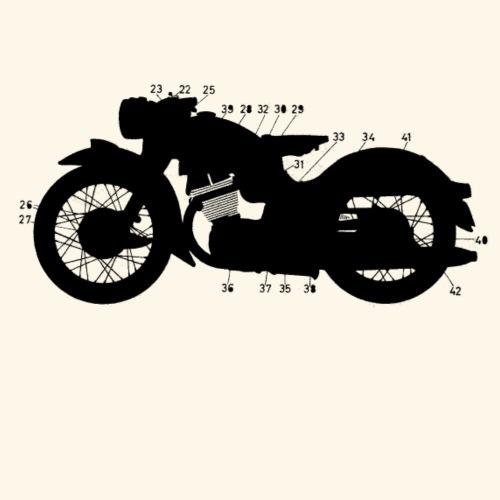 Dark Bike - Dark Mind - Männer Premium T-Shirt