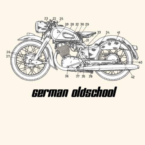 German Oldschool Bike - Männer Premium T-Shirt