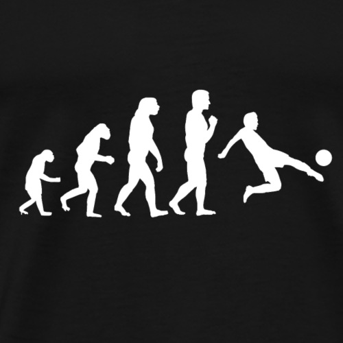 Evolution Fussball - Weiß - Männer Premium T-Shirt