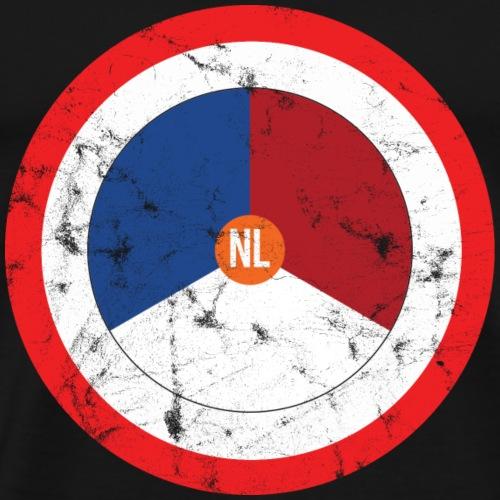 NL washed logo - Mannen Premium T-shirt