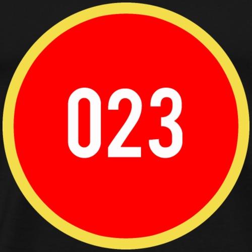 023 logo 2 - Mannen Premium T-shirt
